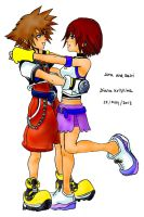 Sora and Kairi Kingdom Hearts by DianaKristina