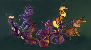Eeveelutions by francis-john