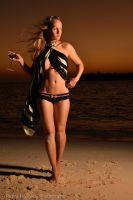 Sunset on the Beach by RichardKnightly