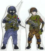 Cartoon Soldiers 1 by Shasiel