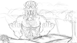 Your demise has come - sketch by GinJuice
