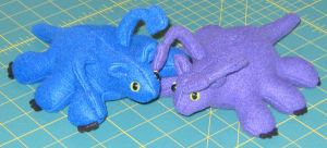 Displacer Beast plushies (For Sale) by IchibanVictory