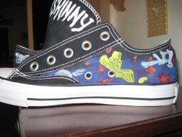 Skinny Puppy side of shoe by SethImmortal