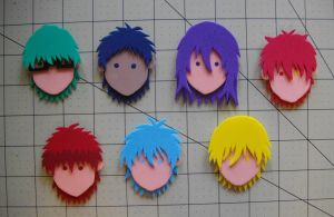 Foam Faces: Kuroko no Basket by Meika02