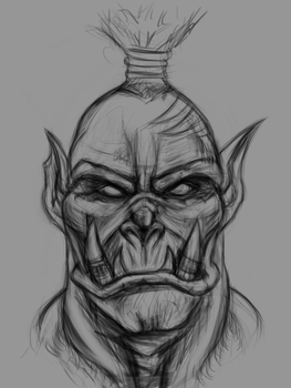 Orc-sketch by VinnyBuff
