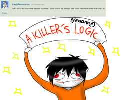 Ask Jeff The Killer 7-Question 7. by MikaelBratLoni