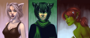 TiH: Shehk, Cuinn, and Altessa by Aerlynn