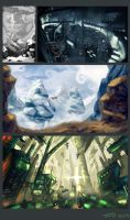 Environment Sketches by mistermojo28