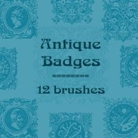 Antique Badges by rL-Brushes