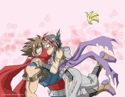 Hiryu x Tora - Accidental Kiss by punkbot08