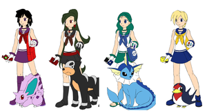 Sailor Senshi x Pokemon 2 by ItsAndromeda