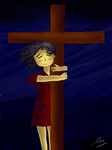 Clinging to the Cross by Meganli