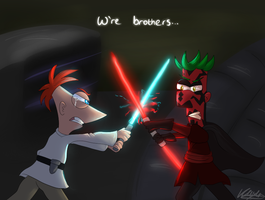 Phineas vs Ferb by dragonwolfgirl1234