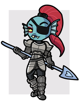 Undyne the Undying by THUNDRkitty