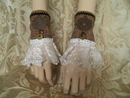 Steampunk-Victorian cuffs PCCC19 by JanuaryGuest