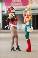 Harley and Supergirl by SweedyHills