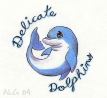 Delicate Dolphins Logo by Rebmakash