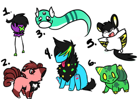Pokemon Point Adopts! by Sliced-Penguin