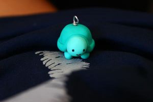 Teal Turtle Charm by purtsuit