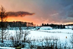 Sunset in Quebec by Bartonbo