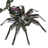 Steampunk Spider Necklace by CatherinetteRings