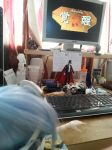 Dolfie Dream KOS-MOS watching Xenosaga animation by lordsjaak