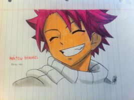 Fairy Tail - Natsu Dragneel (Colour Version Paper) by IVANJC775