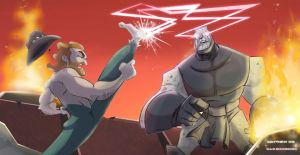 Chuck Norris Vs. Darkseid by DanSchoening