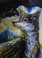 ACEO SillyHearts :Sun wind: by WolfRoad