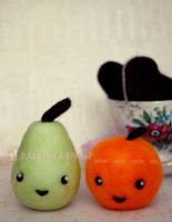 Pear and Orange by ShadowedPorcelain
