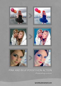 pink and blue possession by ipnotika
