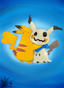 Pikachu and Mimikyu: Brother My Brother by REXY-STARK