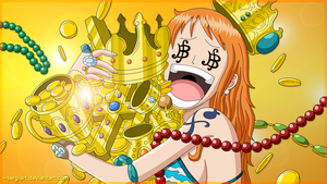 Nami loves gold by SergiART