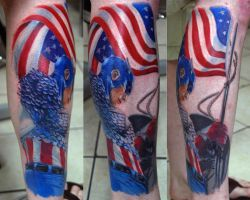 Captain America Tattoo by NateTheKnife
