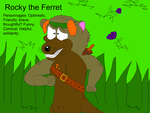 Rocky the Ferret ( Team Ferrets ). Do not Steal by valentinfrench