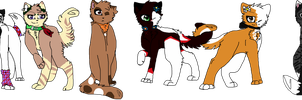 Back-up kitties (full body and in need of names) by Claw-kit