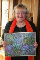 Artist with glimmer painting by ingeline-art