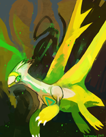 Green and gold by burmalloo