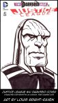 Justice Leage #41 Darkseid Sketch Cover by Bright-Raven