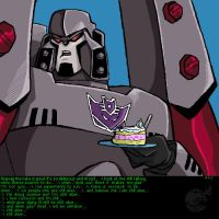 Megatron - The Cake Is A Lie by ellensama