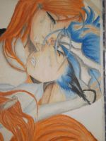Orihime and Grimmjow 2 by NeoAngeliqueAbyss