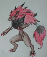 Zoroark by Rose-of-Dawn