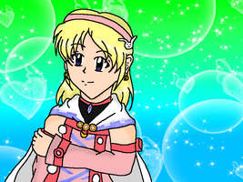 Little Serina winter outfit (Phantasy Star) by Sailormoon003