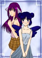 Zakuro and Minto by mystylotus