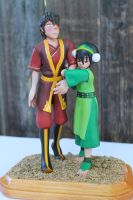 Toph and Zuko Sculpture Profile by aachi-chan