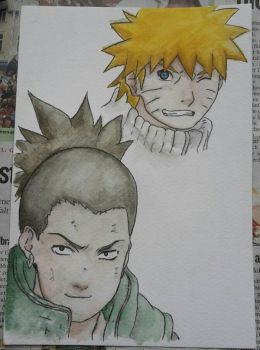 Naruto and Shikamaru by Firnen99