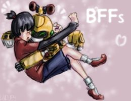 Ikki and Metabee: BFFs by Viquey