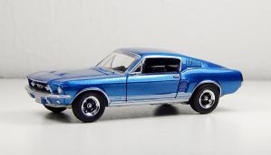Auto World 1967 Ford Mustang GT in Blue by Firehawk73-2012