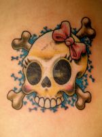 Skull Crossbones girly by NelsonMandingo
