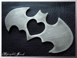 Batman Love Pendant by txgirlinaz